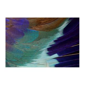 Impressions En Acrylique Plumes lilas de rouleau de Breasted
