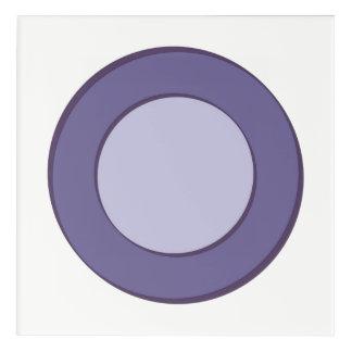 Impressions En Acrylique Point lilas