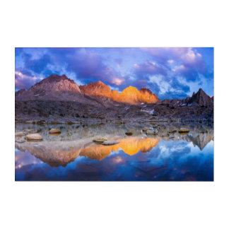 Impressions En Acrylique Réflexion de montagne, la Californie
