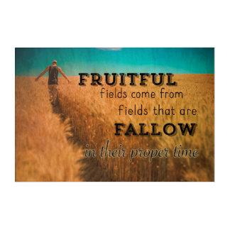 Impressions En Acrylique Sagesse fructueuse de champ d'agriculteur