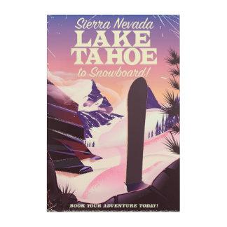 Impressions En Acrylique Sierra Nevada Etats-Unis du lac Tahoe faisant du