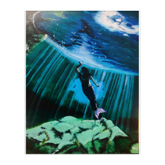 Impressions En Acrylique Sirène sous-marine par John Fermin