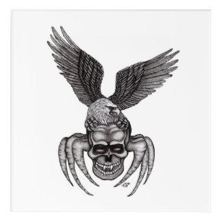 Impressions En Acrylique Spiderskull avec Eagle