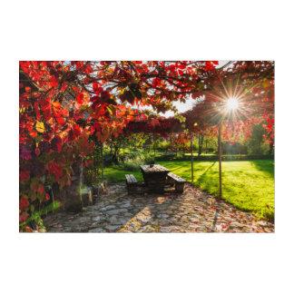 Impressions En Acrylique Sun par le feuille d'automne, Croatie