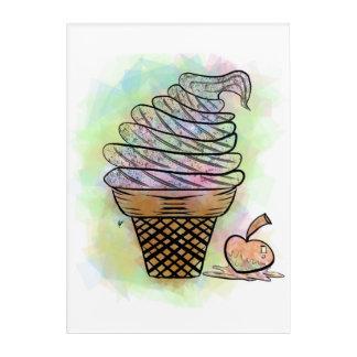 Impressions En Acrylique Tesson de crème glacée