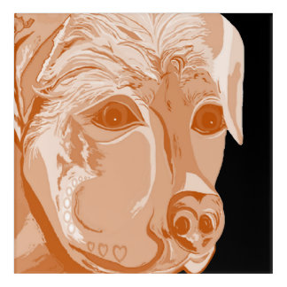 Impressions En Acrylique Tons de sépia de rottweiler