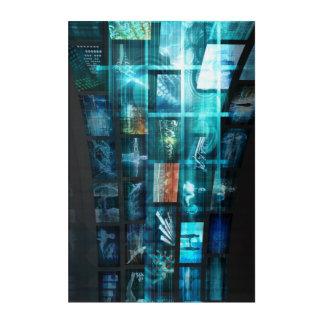 Impressions En Acrylique Train de données de données d'Internet Digital de