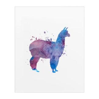 Impressions En Acrylique Un lama