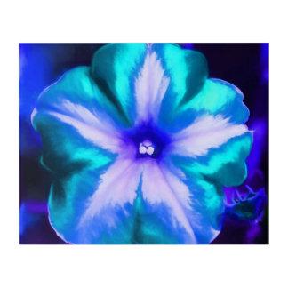 Impressions En Acrylique Une fin d'une fleur bleue et turquoise au néon