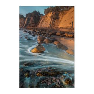 Impressions En Acrylique Vague le long de la plage, la Californie