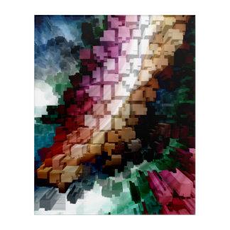 Impressions En Acrylique Vent foncé central de cube