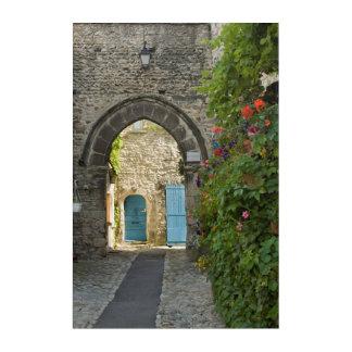 Impressions En Acrylique Vieille rue de ville, France