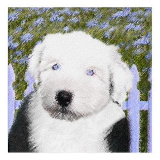 Impressions En Acrylique Vieux chien de berger anglais