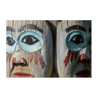 Impressions En Acrylique Visages d'un totem Polonais, Alaska