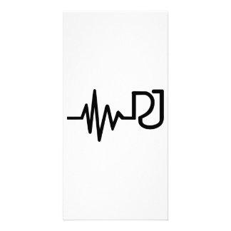 Impulsion de fréquence du DJ Photocartes Personnalisées