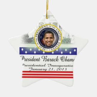 Inauguration 2013 du Président Barack Obama Ornement Étoile En Céramique
