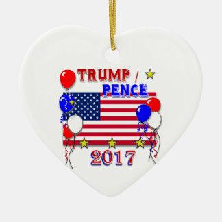 Inauguration 2017 de penny d'atout ornement cœur en céramique