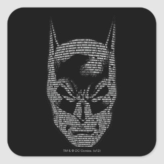 Incantation principale de Batman Sticker Carré