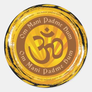 Incantation tibétaine avec le symbole d Aum Autocollants