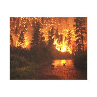 Incendie de forêt de parc national de Bitterroot Toiles