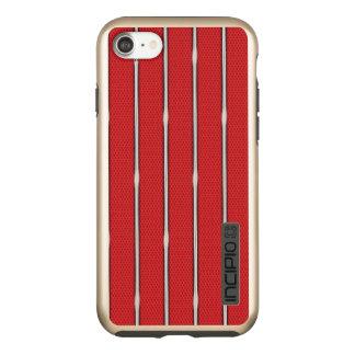 Incipio DualPro Shine iPhone 7 Case Caisse métallique rouge de l'iPhone 7 de texture