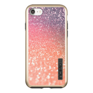 Incipio DualPro Shine iPhone 7 Case L'or rose de tendance Girly rougissent des parties