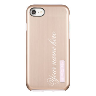Incipio DualPro Shine iPhone 7 Case Nom ou monogramme personnalisé par or rose
