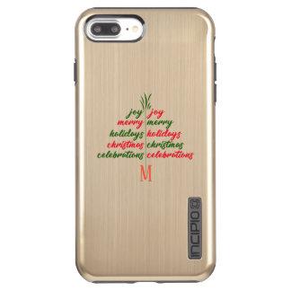 Incipio DualPro Shine iPhone 7 Plus Case Customisez le Noël-De fête-Arbre