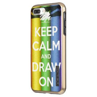 Incipio DualPro Shine iPhone 7 Plus Case Gardez le calme et dessinez sur des couleurs