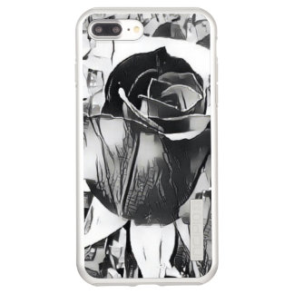 Incipio DualPro Shine iPhone 7 Plus Case iPhone noir et blanc de rose 8 Plus/7 plus