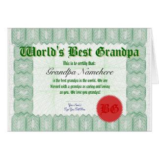 Incitez le meilleur grand-papa du monde à délivrer cartes