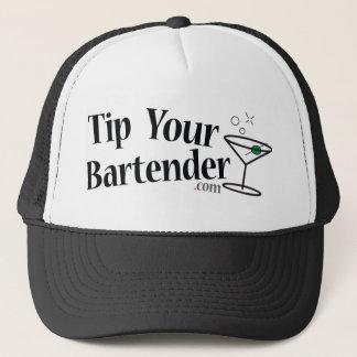 Inclinez votre casquette de Martini de barman