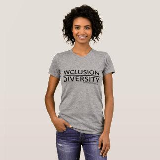 Inclusion au-dessus de diversité t-shirt