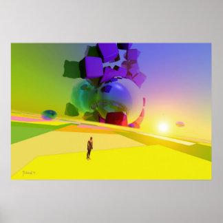 Inconnu de dimension - affiche surréaliste