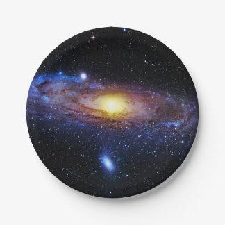 Inconnu de galaxie assiettes en papier