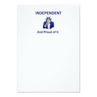 Indépendant fier de PIÈCE EN T Carton D'invitation 12,7 Cm X 17,78 Cm
