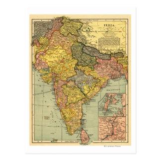 IndiaPanoramic MapIndia Cartes Postales