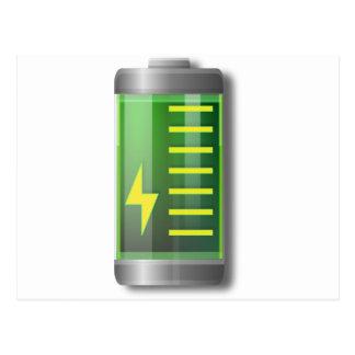 Indicateur de batterie carte postale