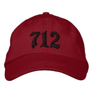 Indicatif régional 712, Sioux City, IOWA Casquette Brodée