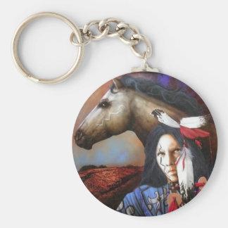 Indien/cheval Porte-clés