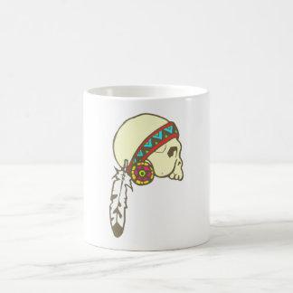 Indien crânes tête de mort Native American skull Mug Blanc