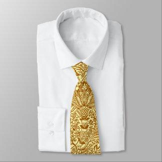Indien de William Morris, jaune de moutarde et or Cravate