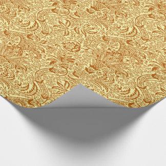 Indien de William Morris, jaune de moutarde et or Papier Cadeau
