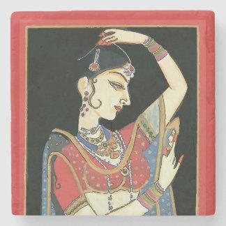 Indien, femme de Mughal, princesse Dessous-de-verre En Pierre