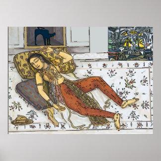 Indien, femme de Mughal, princesse Poster