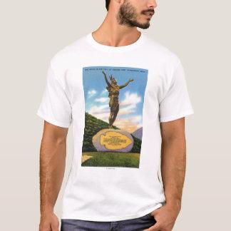Indien sur la statue de traînée à la vue de parc t-shirt