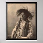 Indien vintage : Antoine Moise, à tête plate - Posters