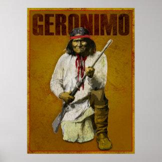 Indien vintage d'Apache - Geronimo Affiche