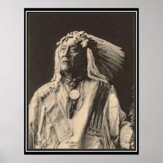 Indien vintage : Haut ours, Sioux - Affiches