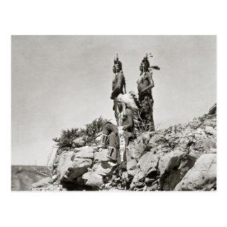 Indiens de corneille sur Cliff, 1905 Carte Postale